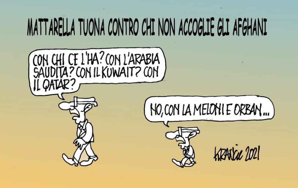Predica di Mattarella – La Vignetta di AlfioKrancic