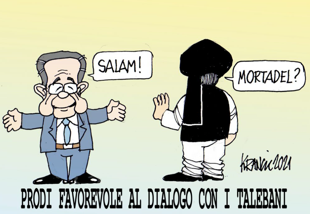 Anche Prodi apre al dialogo con i talebani – La Vignetta di AlfioKrancic
