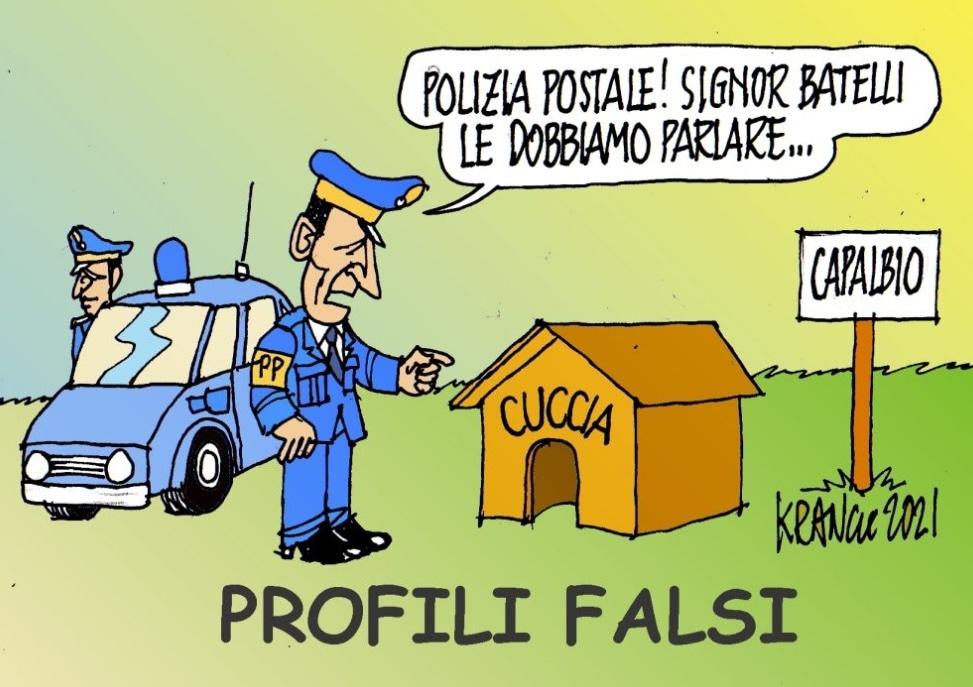 Insulti da Profili Falsi – La Vignetta di AlfioKrancic
