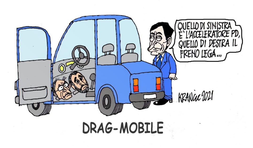 Freno e acceleratore politici – La Vignetta di AlfioKrancic