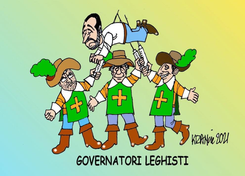 Governatori leghisti contro Salvini – La Vignetta di AlfioKrancic