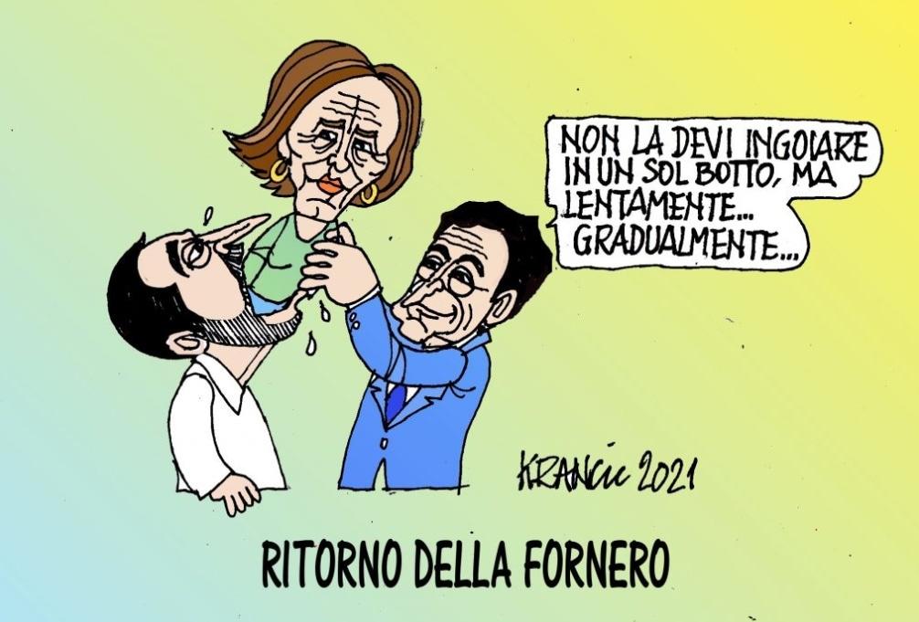 Addio quota 100 – La vignetta di AlfioKrancic
